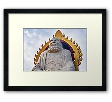 Bodhidharma statue on mount Song in DengFeng China art photo print Framed Print