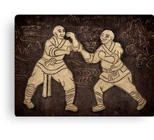 Shaolin monks artwork on a wall art photo print Canvas Print
