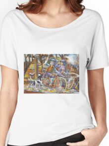 Walking the dog III Women's Relaxed Fit T-Shirt