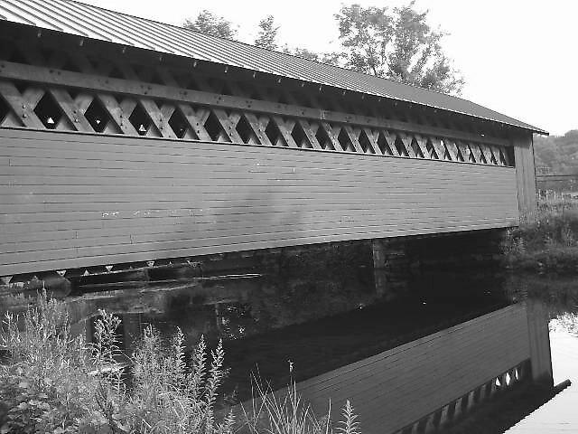 Covered Bridge in Bennington,Vermont by Brian Burdick