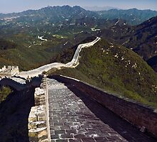 The Great Wall of China mountain scenery in Badaling art photo print by ArtNudePhotos
