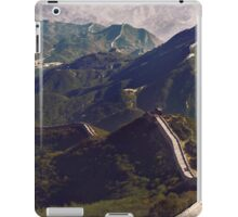 Great Wall of China landscape scenery in Badaling art photo print iPad Case/Skin