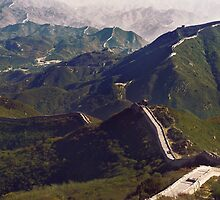 Great Wall of China landscape scenery in Badaling art photo print by ArtNudePhotos