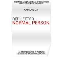 Red Letter, Normal Person Poster Poster
