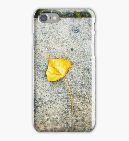 Yellow leaf iPhone Case/Skin
