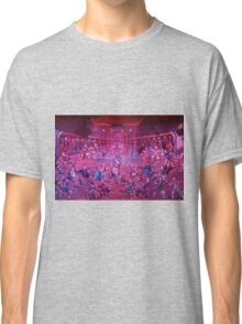 Artwork of Shaolin monks practicing in front of the Temple art photo print Classic T-Shirt