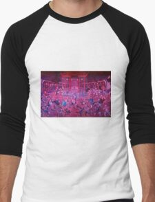 Artwork of Shaolin monks practicing in front of the Temple art photo print Men's Baseball ¾ T-Shirt