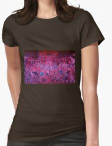 Artwork of Shaolin monks practicing in front of the Temple art photo print T-Shirt