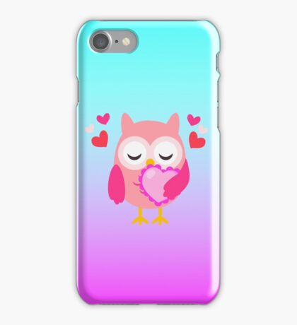 Cute Owl Love Hearts Phone Case iPhone Case/Skin