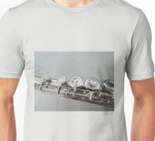 Silver Flute Left Hand Keys Unisex T-Shirt