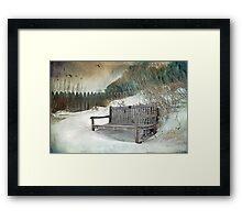 Sanctuary in White Framed Print