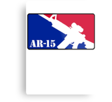 AR15 Red White and Blue Metal Print