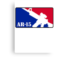 AR15 Red White and Blue Canvas Print