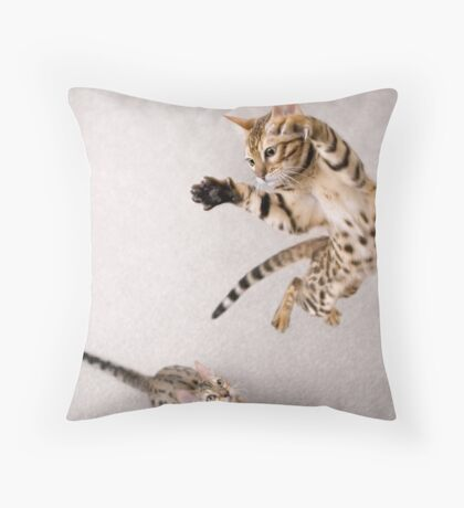 I bet you can't do this... Throw Pillow