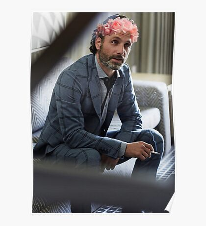 Andrew Lincoln Flower Crown Poster
