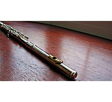 Silver and Gold - Flute Headjoint  Photographic Print