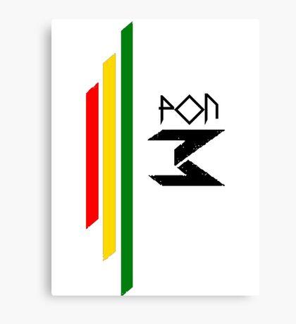 DJ Pon-3: Rasta Logo Canvas Print