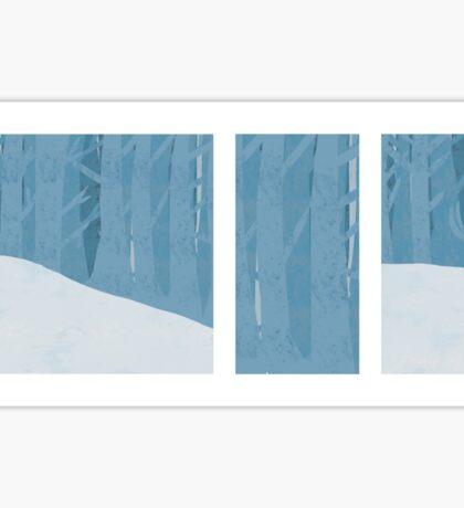 Winter blue landscape Sticker