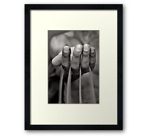 running time Framed Print