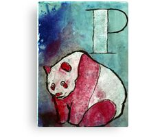 P for Panda Canvas Print