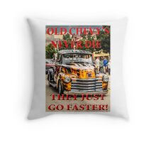 Old Chevys Never Die Throw Pillow