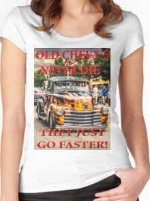 Old Chevys Never Die Women's Fitted Scoop T-Shirt