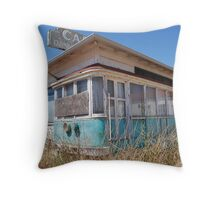 Abandoned Diner Throw Pillow