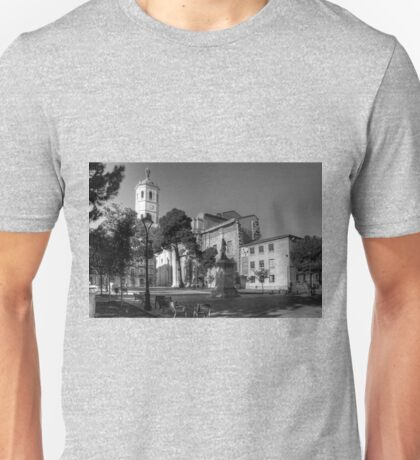 Cathedral of Valladolid - B&W Unisex T-Shirt