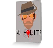 Team Fortress 2 - Sniper Greeting Card