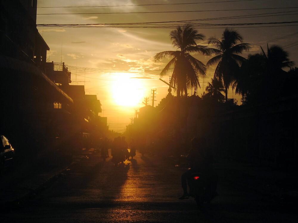 Battambang, Cambodia by gaylebaird