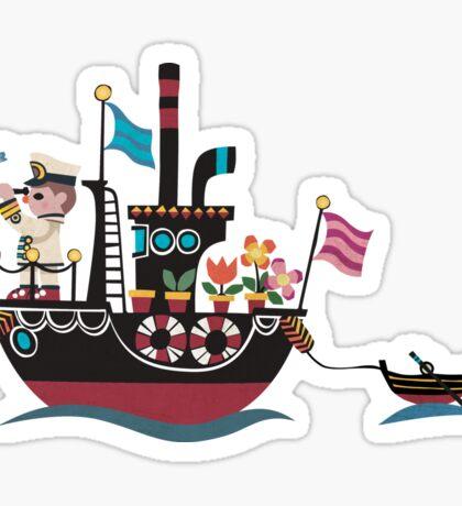 Sea Lover Retro Japanese illustration Sticker
