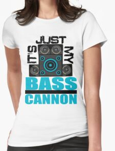 DJ Pon-3: Bass Cannon Womens Fitted T-Shirt