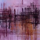 Purple / Violet Painting in Minimalist and Abstract Style by Deniz Akerman