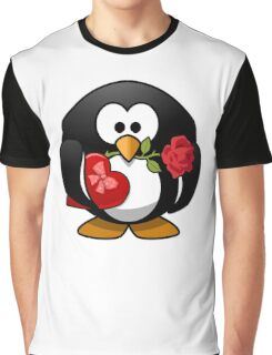 Tux the Penguin Lover Graphic T-Shirt