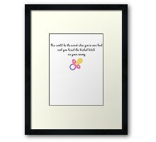 Hired Wicked Witch As Nanny Framed Print