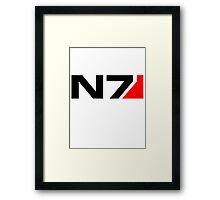Mass Effects N7 Framed Print