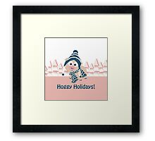 Hoggy Holidays! Winter Pig Framed Print