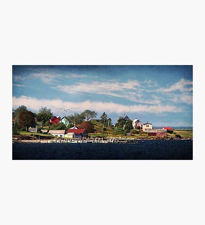 Big Tancook Island Houses Photographic Print