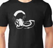 headphones black Unisex T-Shirt