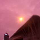 pink city sky by HarbourCityCards
