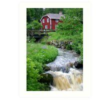 Swedish cottage Art Print