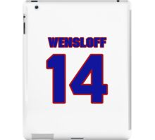 National baseball player Butch Wensloff jersey 14 iPad Case/Skin