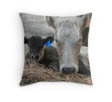 My Muvver, The Cow Throw Pillow