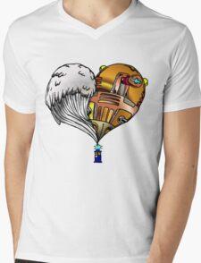 Love and Hate Tardis Mens V-Neck T-Shirt