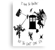 Tardis and Friends Canvas Print