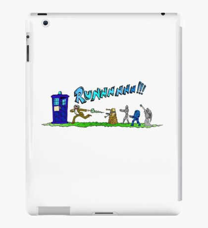 Doctor Who running from enemies iPad Case/Skin