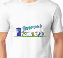 Doctor Who running from enemies Unisex T-Shirt