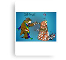 Good Boy, Bad Dalek Canvas Print