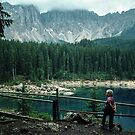 Marjorie beside Lago di Carezza Italy 19840809 0006  by Fred Mitchell
