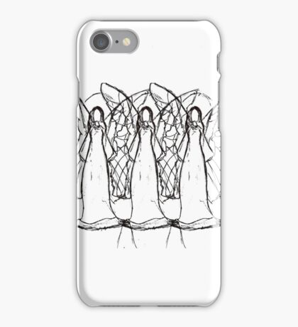 Three angels sharpie marker drawing iPhone Case/Skin